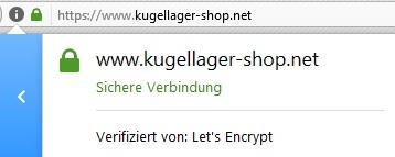 Kugellager-shop.net Verschlüsselung